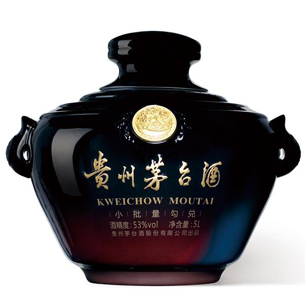 贵州茅台酒 53度 茅台百年金奖封坛酒 5L (小黑坛)